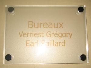 plaques de signaletiques professionnelles plexiglas de rue plaque signaletique design profession. Black Bedroom Furniture Sets. Home Design Ideas