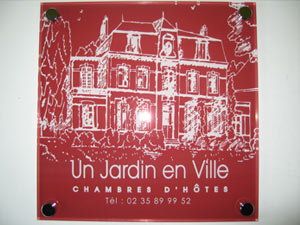 Plaques chambres d 39 hotes professionnelles plexiglas de rue - Chambre d hote cote picarde ...