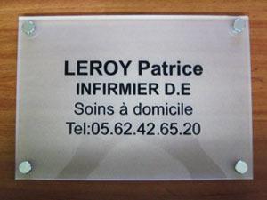 plaques professionnelles plexiglas d poli de rue plaque medecin notable infirmier avocat. Black Bedroom Furniture Sets. Home Design Ideas