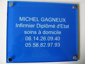 plaques professionnelles plexiglas bleue de rue plaque medecin notable infirmier avocat. Black Bedroom Furniture Sets. Home Design Ideas