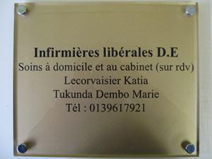 plaques professionnelles plexiglas dor e de rue plaque medecin notable infirmier avocat. Black Bedroom Furniture Sets. Home Design Ideas