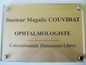 Plaque ophtalmologue