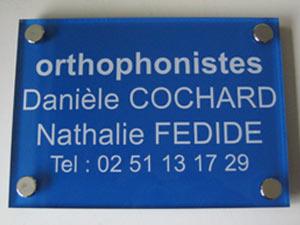 plaques orthophonistes professionnelles plexiglas de rue plaque orthophonie profession liberale. Black Bedroom Furniture Sets. Home Design Ideas