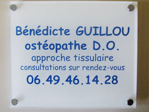 plaques osteopathe professionnelles plexiglas de rue plaque osteopathie clinicien profession. Black Bedroom Furniture Sets. Home Design Ideas