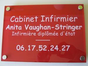 plaques professionnelles plexiglas rouge de rue plaque medecin notable infirmier avocat. Black Bedroom Furniture Sets. Home Design Ideas
