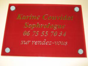 plaques sophrologues professionnelles plexiglas de rue plaque sophrologue docteur cabinet. Black Bedroom Furniture Sets. Home Design Ideas
